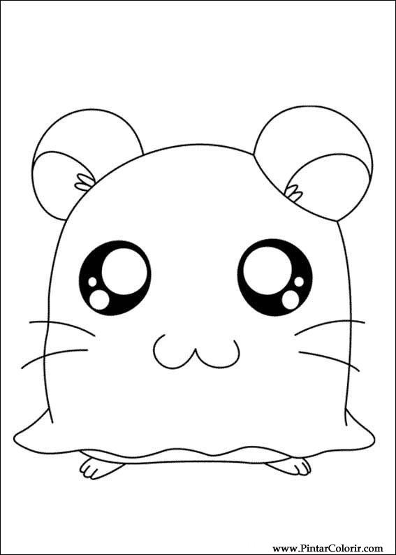 Drawings To Paint amp Colour Hamtaro Print Design 004