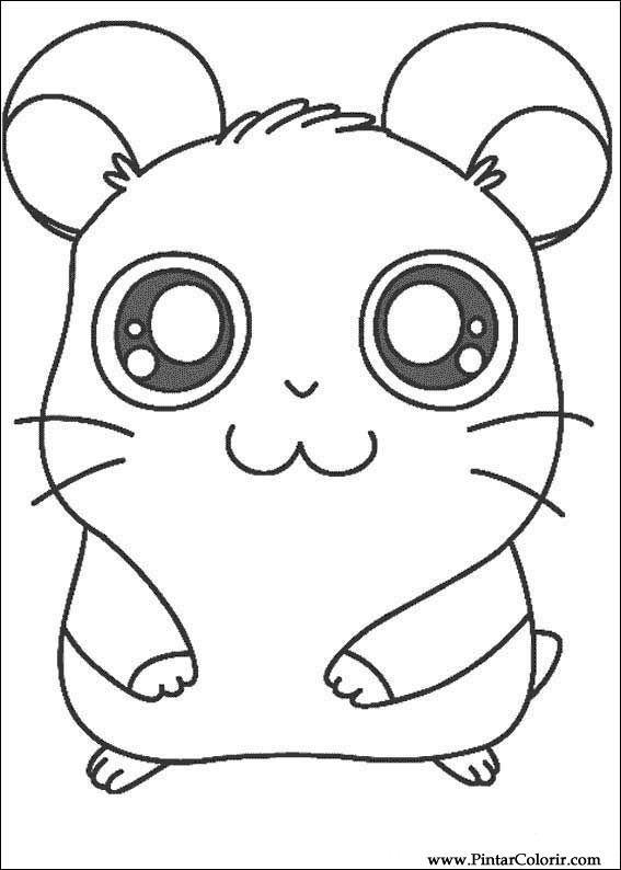 Drawings To Paint amp Colour Hamtaro Print Design 006