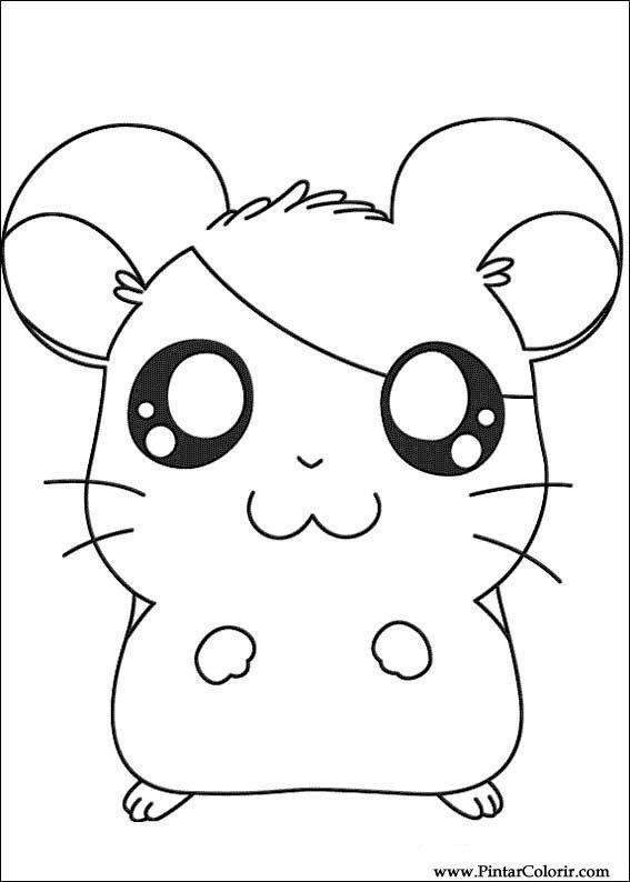 Conhecido Desenhos Para Pintar e Colorir Hamtaro - Imprimir Desenho 011 CG31