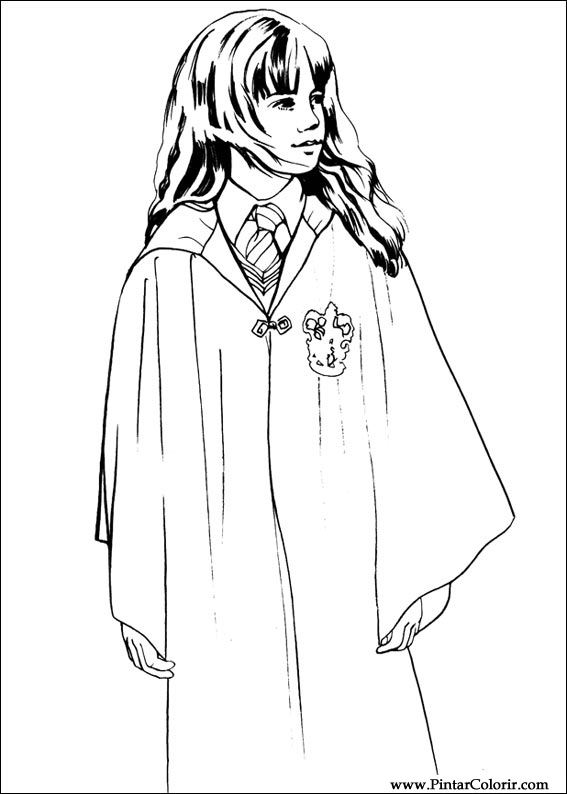 Drawings To Paint amp Colour Harry Potter Print Design 002