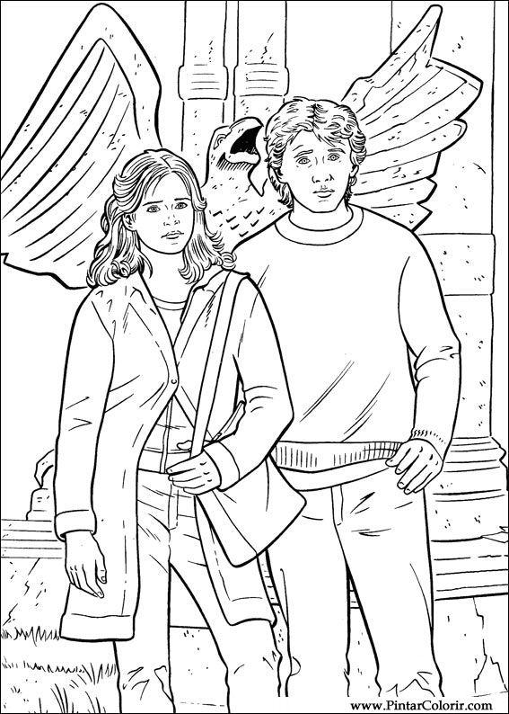 Tekeningen Te Schilderen amp Kleur Harry Potter Print Design 017