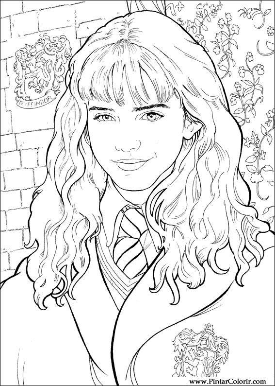 Tekeningen Te Schilderen amp Kleur Harry Potter Print
