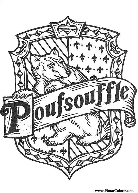 Disegni per dipingere colour harry potter stampare