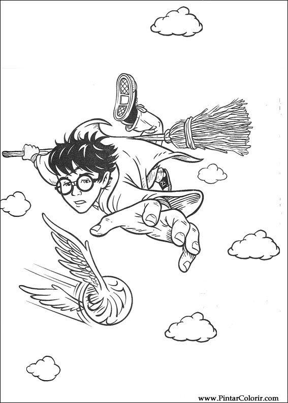 Dibujos Para Pintar Harry Potter - Dibujos Para Pintar