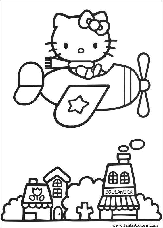 Dibujos para pintar y color hello kitty dise o de - Disenos para pintar ...
