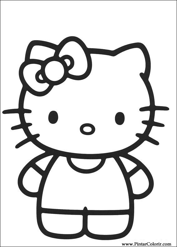 paint colour hello kitty drawing 007