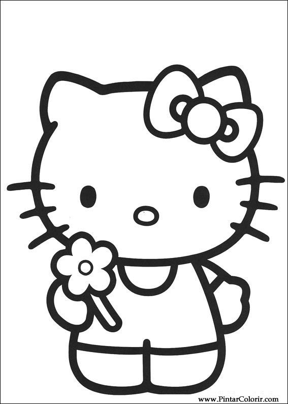 paint colour hello kitty drawing 008