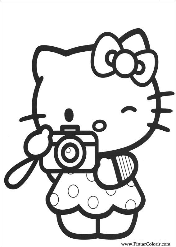 paint colour hello kitty drawing 010