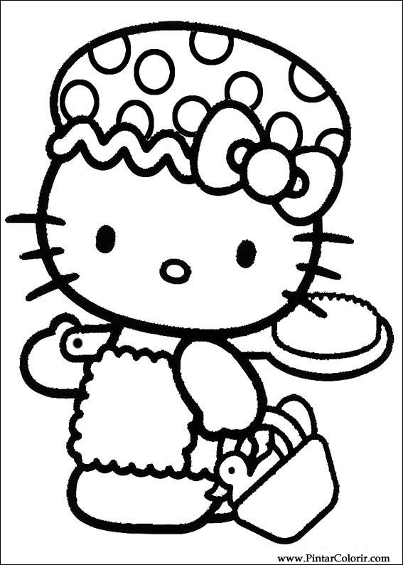 hello kitty coloring pages nurse - photo#11