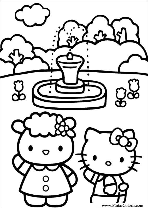 199 Izimler Boya Ve Renk Hello Kitty I 231 In Baskı Tasarım 028