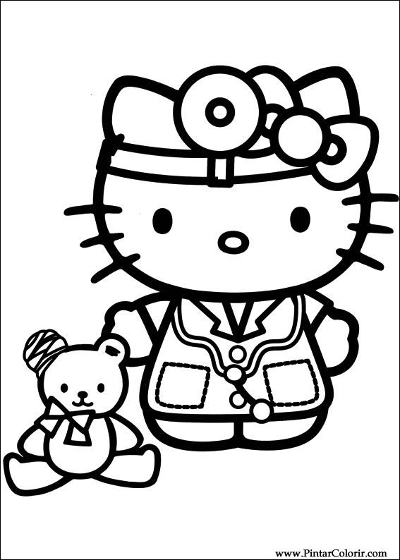 paint colour hello kitty drawing 038