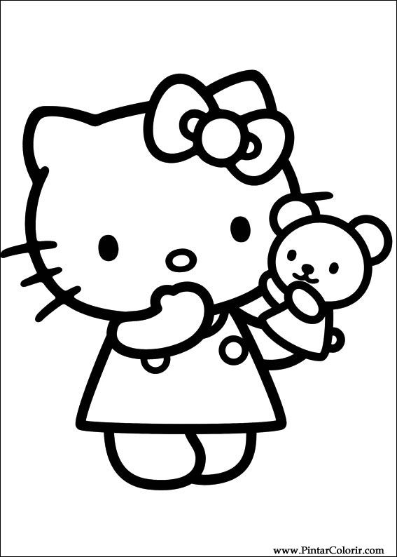 Распечатать раскраски hello kitty 59