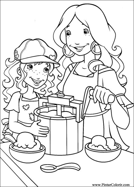 Disegni Per Dipingere amp Colour Holly Hobbie Stampare