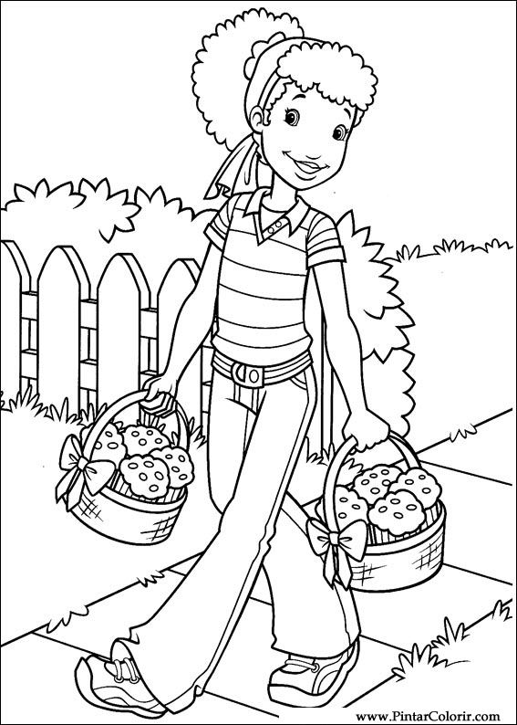 Disegni per dipingere colour holly hobbie stampare for Holly hobbie coloring pages
