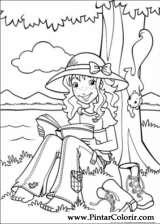 Pintar e Colorir Holly Hobbie - Desenho 006