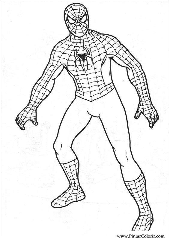 Disegni Per Dipingere amp Colour Spiderman Stampare Realizzazione 007
