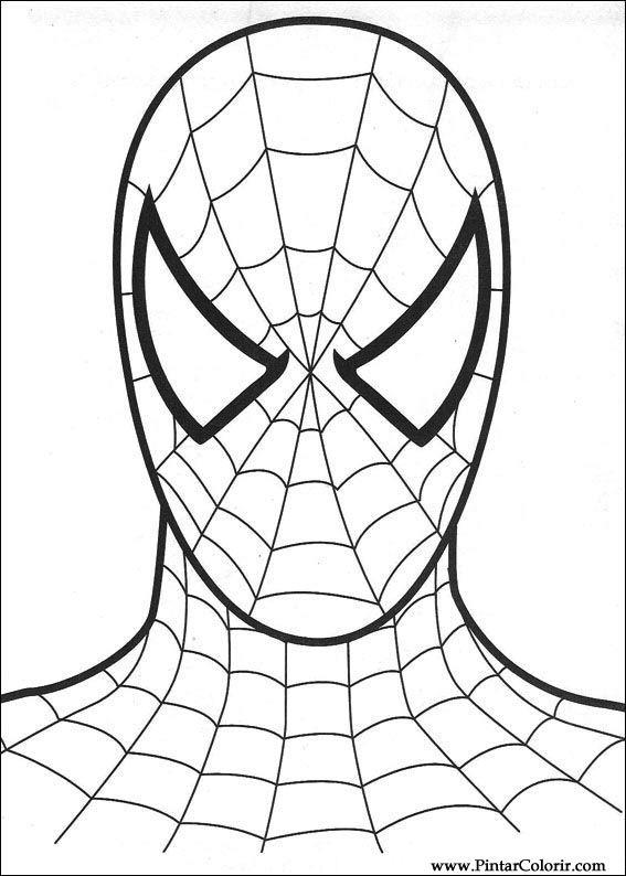 Dibujos para pintar y Color Spiderman - Diseño de impresión 008