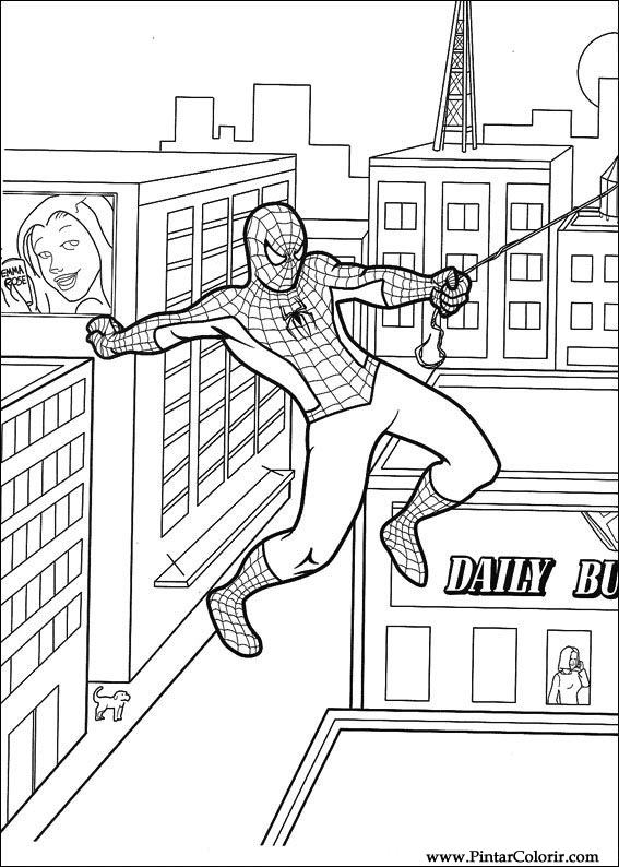 Drawings To Paint amp Colour Spiderman Print Design 048