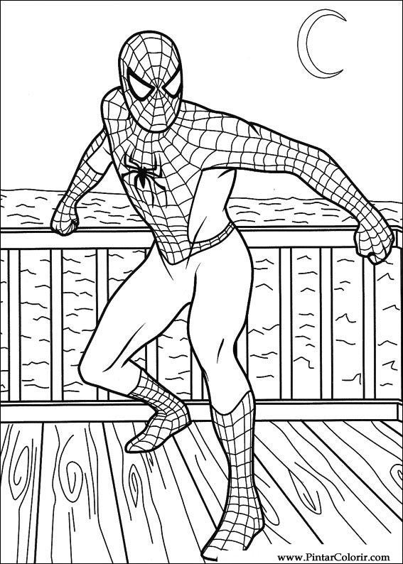 Drawings To Paint Amp Colour Spiderman