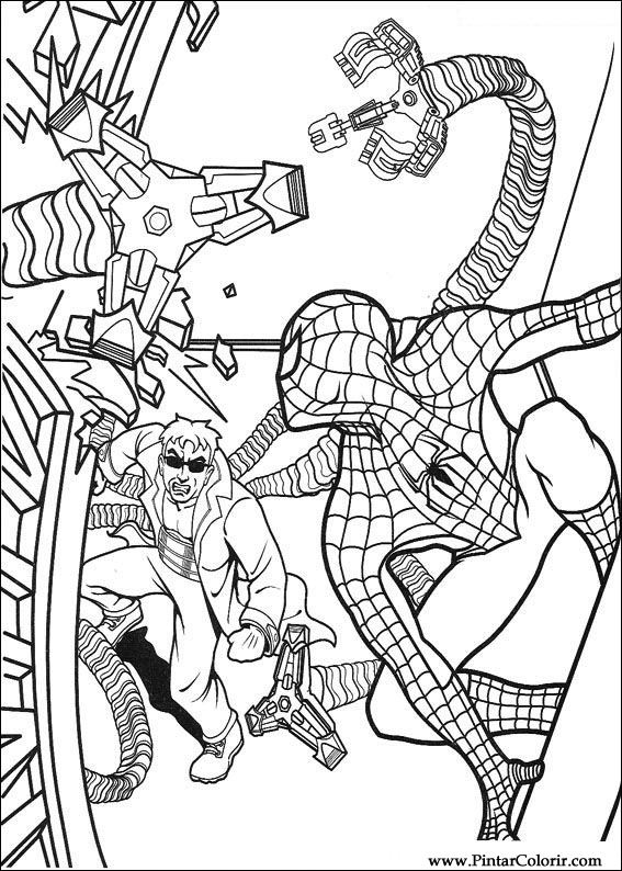 Drawings To Paint amp Colour Spiderman Print Design 056