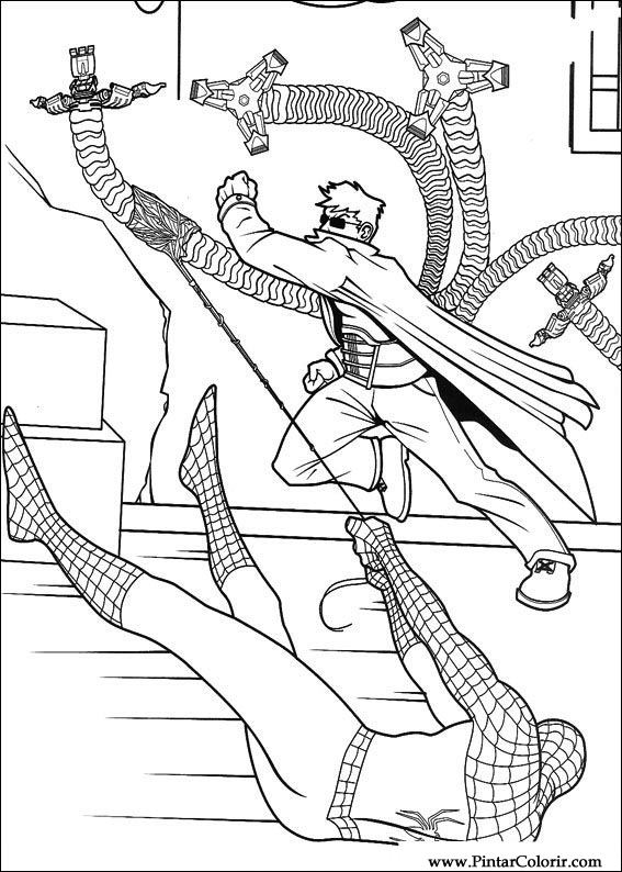 coloring pages online spiderman fighting - photo#12