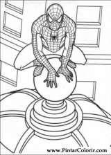 Pintar e Colorir Homem Aranha - Desenho 001