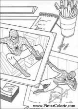 Pintar e Colorir Homem Aranha - Desenho 004