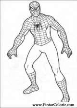 Pintar e Colorir Homem Aranha - Desenho 007