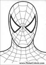 Pintar e Colorir Homem Aranha - Desenho 008