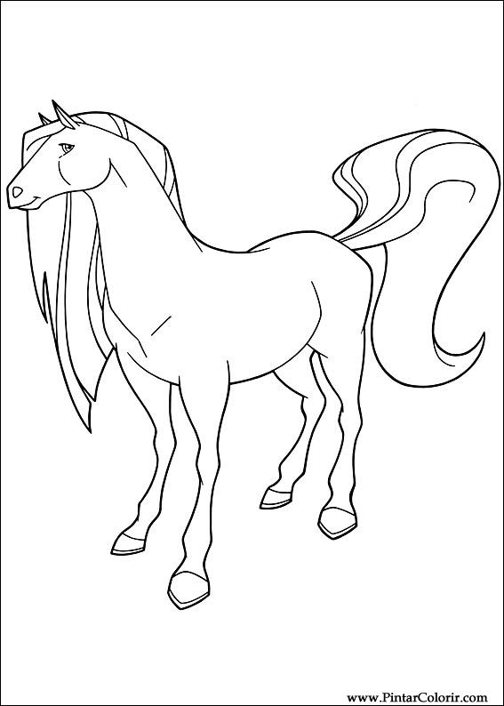 Tekeningen te schilderen kleur horseland print design 022 for Coloring pages horseland