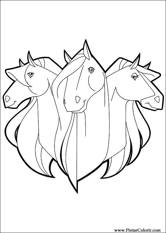 dessins de peindre et couleur horseland imprimer conception 024