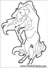 Pintar e Colorir Horseland - Desenho 014