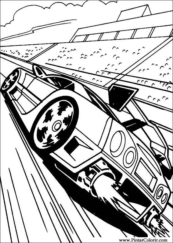 Dibujos para pintar y Color Hot Wheels  Diseo de impresin 001