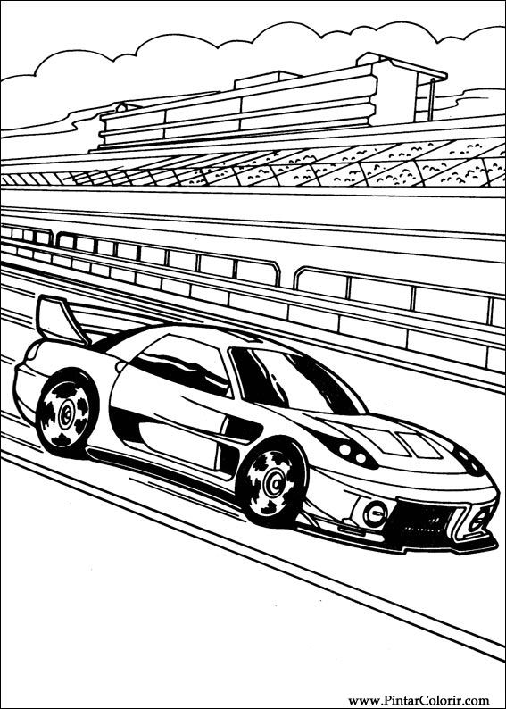 Pintar e Colorir Hot Wheels - Desenho 003
