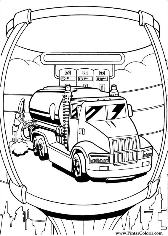 Dibujos para pintar y Color Hot Wheels  Diseo de impresin 006