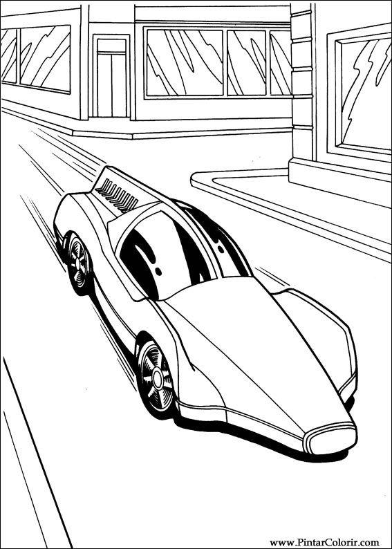 Dibujos para pintar y Color Hot Wheels  Diseo de impresin 008