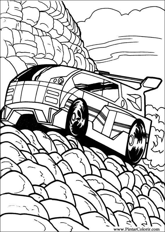 Dibujos para pintar y Color Hot Wheels  Diseo de impresin 041