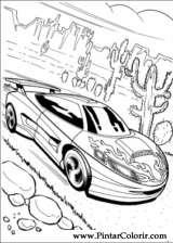 Pintar e Colorir Hot Wheels - Desenho 005