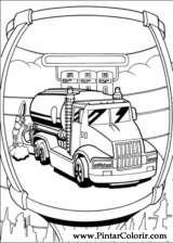 Pintar e Colorir Hot Wheels - Desenho 006