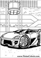 Pintar e Colorir Hot Wheels - Desenho 007