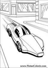 Pintar e Colorir Hot Wheels - Desenho 008
