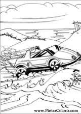 Pintar e Colorir Hot Wheels - Desenho 021