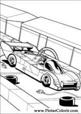 Pintar e Colorir Hot Wheels - Desenho 037