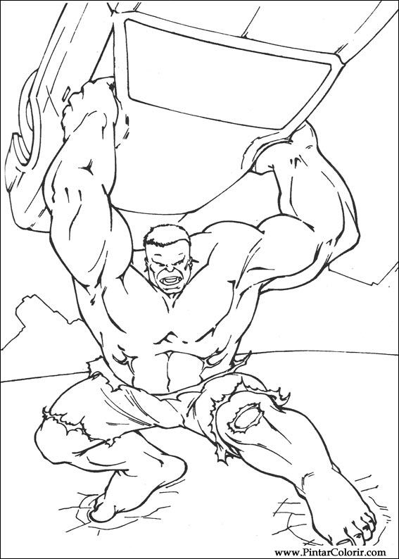 Dibujos para pintar y colorear hulk dise o de impresi n 006 - Disenos para pintar ...