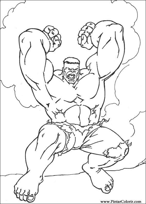 Tekeningen Om Te Schilderen En Hulk Coloring Print