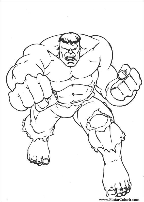 Drawings To Paint And Hulk Coloring Print Design 025