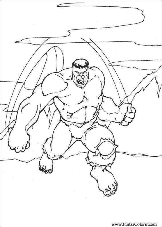 Desenhos Para Pintar E Colorir Hulk
