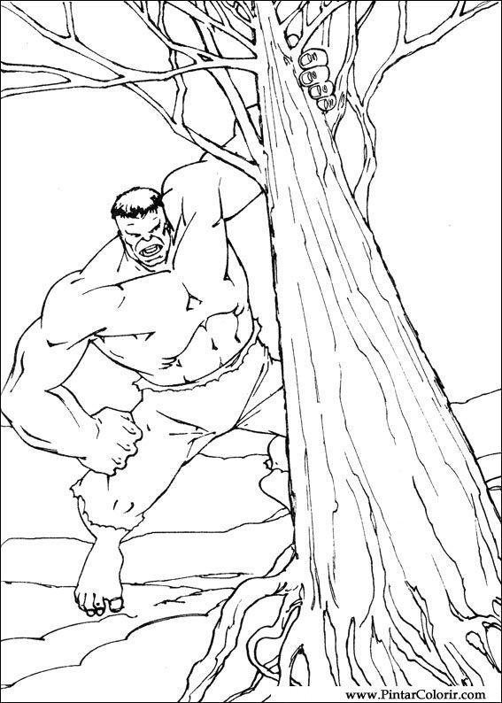 Dibujos para pintar y colorear hulk dise o de impresi n 078 - Disenos para pintar ...