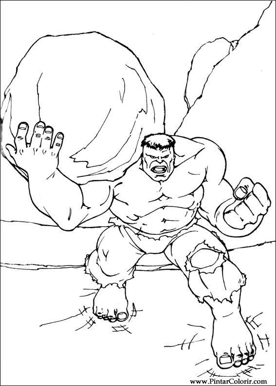Dibujos para pintar y colorear hulk dise o de impresi n 081 - Disenos para pintar ...