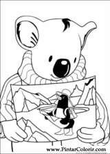 Pintar e Colorir Irmaos Koala - Desenho 006